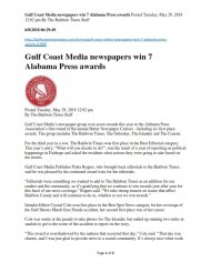 Article Gulf Coast Media newspapers win 7 Alabama Press awards Posted Tuesday, May 29, 2018 12...jpg